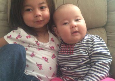 Olivia and Hannah